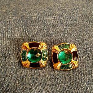 Jewelry - ❤3 for $15! Bejeweled pierced earrings